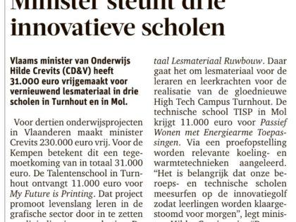 Minister steunt drie innovatieve scholen